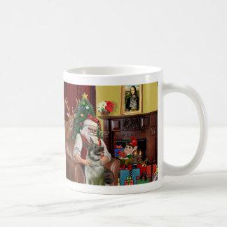 Santa's Norwegian Elkhound Coffee Mug