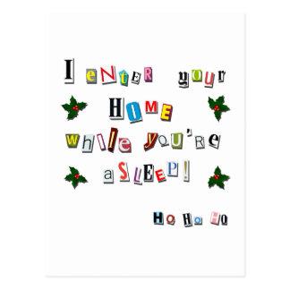 Santa's note postcard