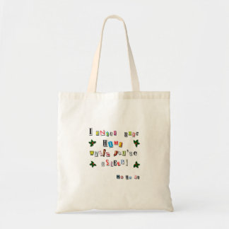Santa's note tote bag