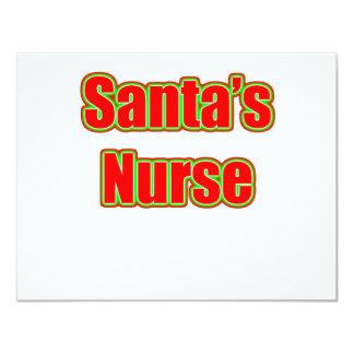 Santa's Nurse 4.25x5.5 Paper Invitation Card