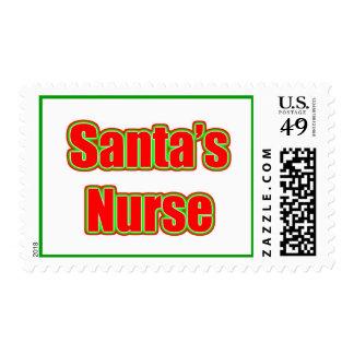 Santa's Nurse Postage Stamp