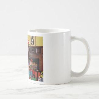 Santa's Old English Sheepdog Coffee Mugs