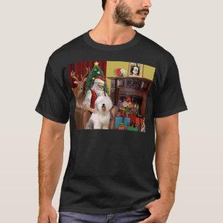Santa's Old English Sheepdog T-Shirt