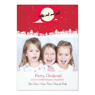 Santa's On His Way Photo Holiday Card