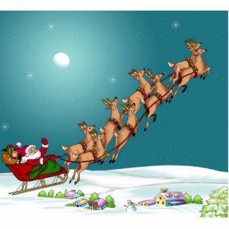 Santa's on his way statuette