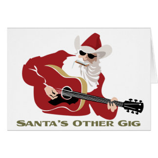 Santa's Other Gig Greeting Cards