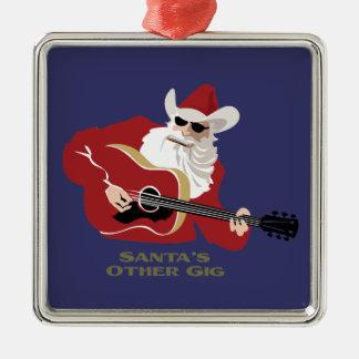 Santa's Other Gig Metal Ornament