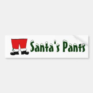 Santa's Pants Bumper Sticker
