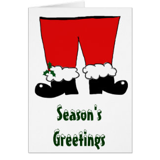 Santa's Pants Card
