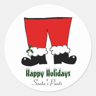 Santa's Pants Classic Round Sticker