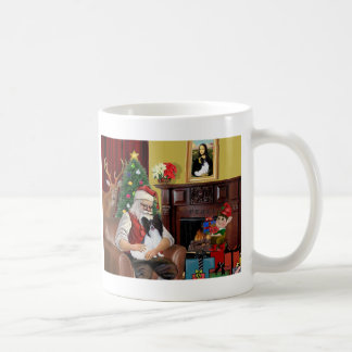 Santa's Papillon Coffee Mug