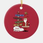 Santa's Pole Christmas Ornaments