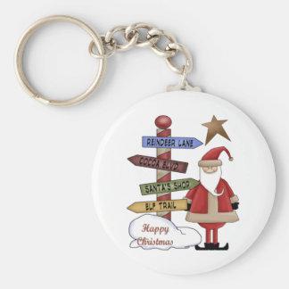 Santa's Pole Keychain