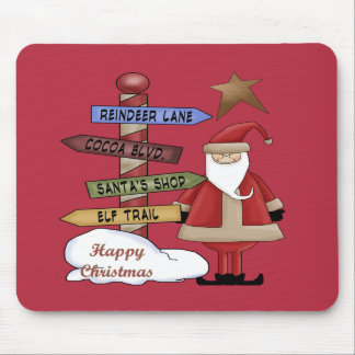 Santa's Pole Mouse Pad