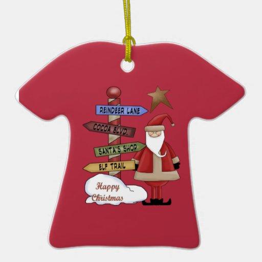 Santa's Pole Ornaments