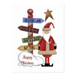 Santa's Pole Post Card