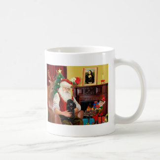 Santa's Poodle (black) Coffee Mug