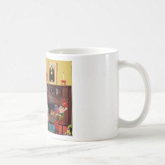 Santa's Poodle (black) Coffee Mugs
