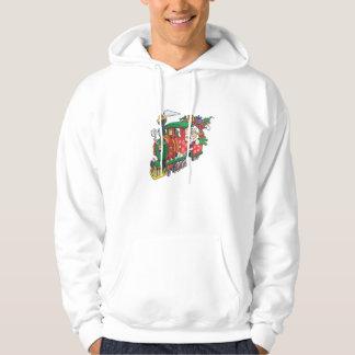 Santa's present sream train hoodie