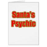 Santa's Psychic Greeting Card