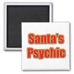 Santa's Psychic Refrigerator Magnet