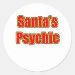 Santa's Psychic Round Sticker