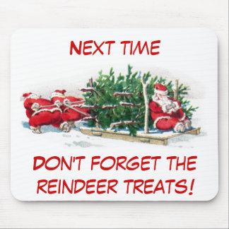Santas Pulling Sleigh Funny Xmas Mousepad