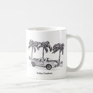 Santa's Race Car Coffee Mug