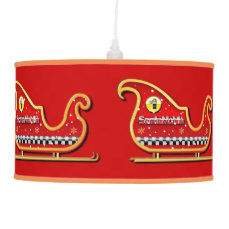 Santa's Racing Sleigh Cartoon Ceiling Lamp