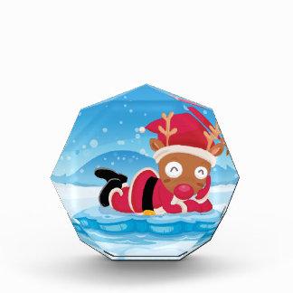 Santa's reindeer above the iceberg award