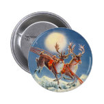 SANTA'S REINDEER by SHARON SHARPE Pinback Buttons