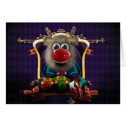 Santas Reindeer Christmas Card