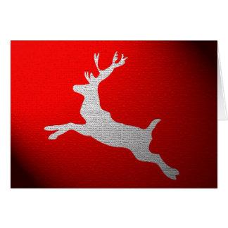 Santa's Reindeer Christmas Card