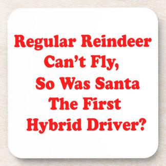santa's reindeer hybrid pun beverage coaster