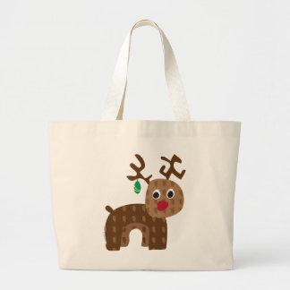 Santa's Reindeer Large Tote Bag