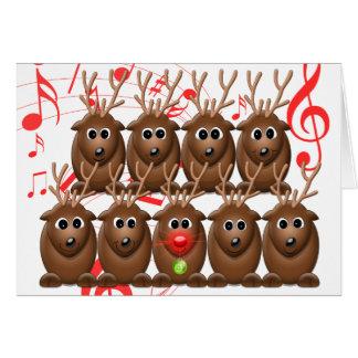 Santa's Reindeer Photo Christmas Greeting Card