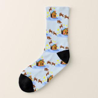 Santa's Reindeer Snowy Christmas Socks! Socks