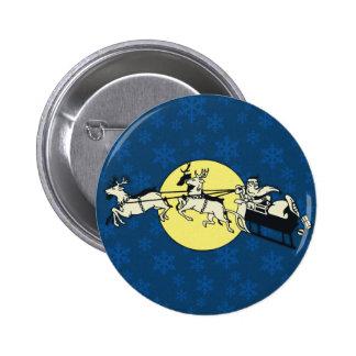 Santa's Ride Pinback Button