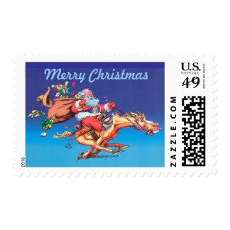 Santa's Ride Postage Stamps