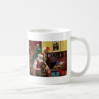 Santa's Rottweiler Coffee Mugs