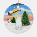 Santas sacan - el gato blanco (SH americanos) Adorno Para Reyes