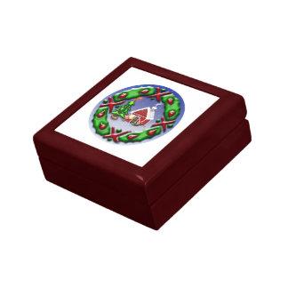 Santas se dirigen caja de joyas