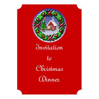 """Santas se dirigen invitación 5"""" x 7"""""""