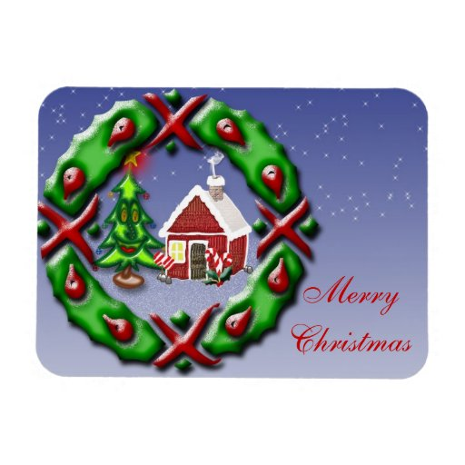 Santas se dirigen rectangle magnet