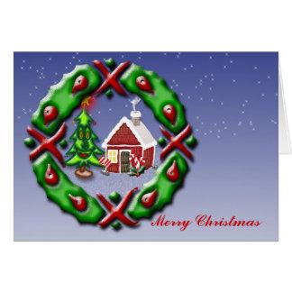 Santas se dirigen tarjeta de felicitación