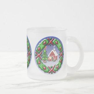 Santas se dirigen taza de café