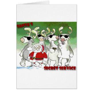 Santa's Secret Service Card