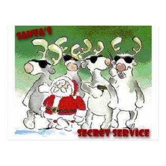 Santa's Secret Service Postcard