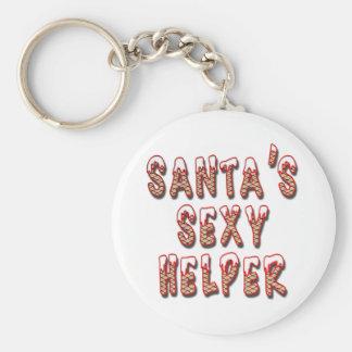 Santa's Sexy Helper Keychain