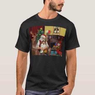 Santa's Sheltie (sw) T-Shirt